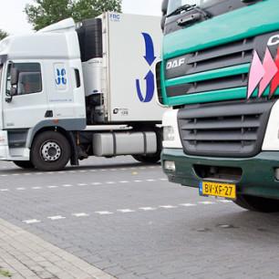 vrachtauto-parkeren
